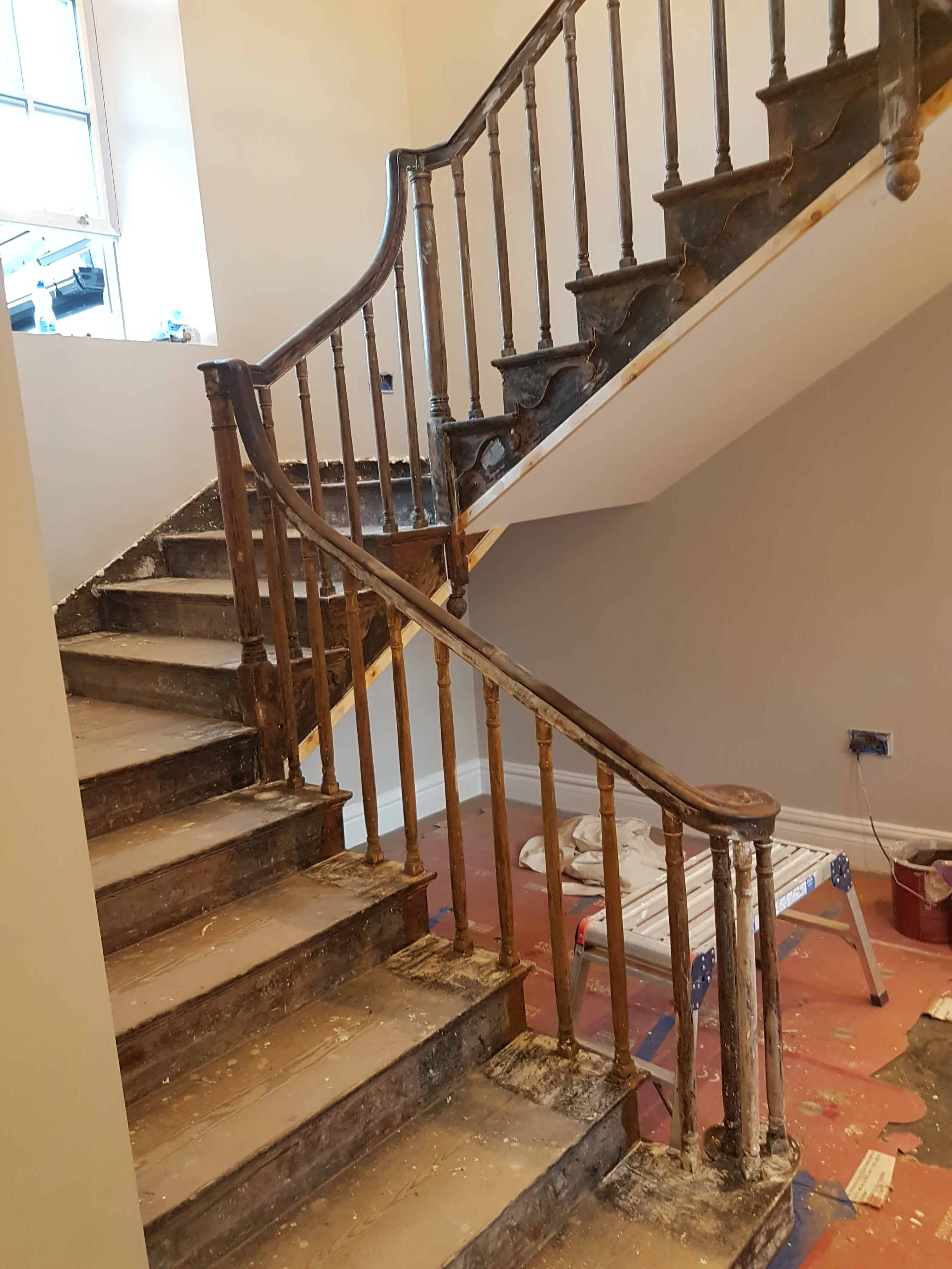 Stairs-<p>Before during and after of a stairs that we recently completed. </p>